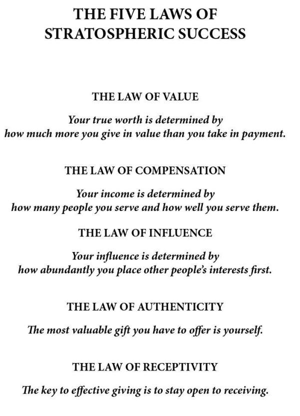 THE FIVE LAWS OF STRATOSPHERIC SUCCESS